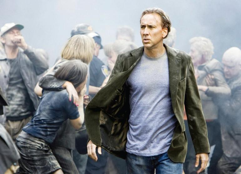 Nicolas Cage plays the lead in Left Behind, released 3rd October